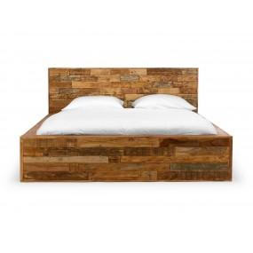 Dřevěná postel hnědá Sierra