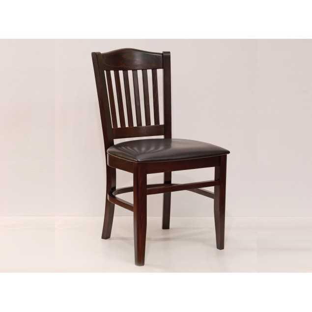 Jídelní židle z masivu hnědá Gastro