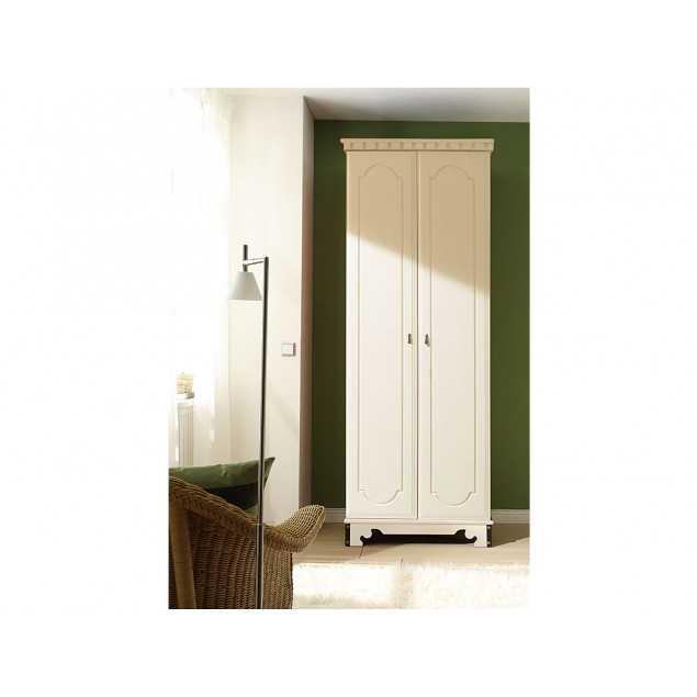 Bílá šatní skříň kaučukovník Constantin