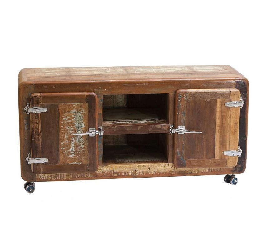 Barevný televizní stolek Frankfurt z recyklovaného dřeva