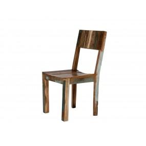 Barevná židle z recyklovaného masivu Frankfurt