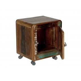 Rustikální noční stolek z recyklovaného dřeva Frankfurt