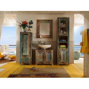 Masivní koupelnová skříňka se zrcadlem Oceania