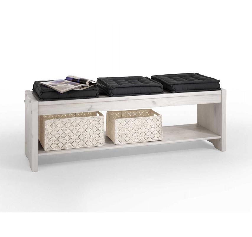 Dřevěná lavice Hancock se sedáky