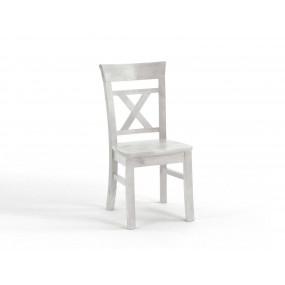 Bílá jídelní židle Hancock z masivní borovice