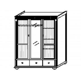 Třídveřová šatní skříň Gustav