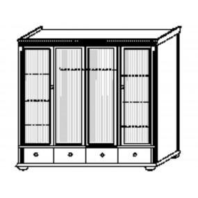Čtyřdveřová šatní skříň Gustav