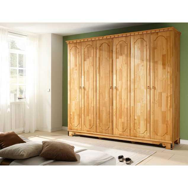 6 dveřová šatní skříň kaučukovník Constantin