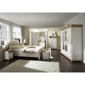 Masivní postel z borovicového dřeva Gustav