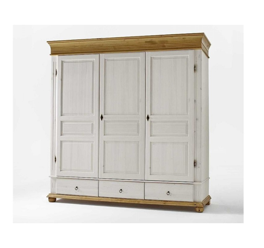Vysoká šatní skříň třídveřová Harald