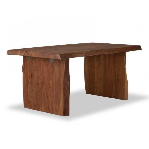 Masivní jídelní stůl z akátu hnědý