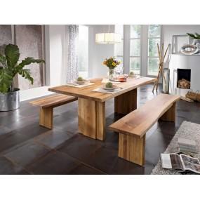 Masivní lavice z dubového dřeva Norton