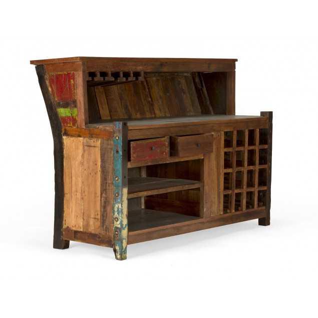Masivní barevný bar z tvrdého dřeva Halika