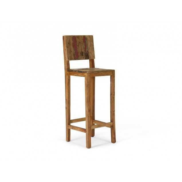 Barová židle z recyklovaného dřeva Halika