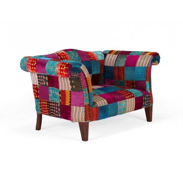 Barevná 2místná sedačka Purple