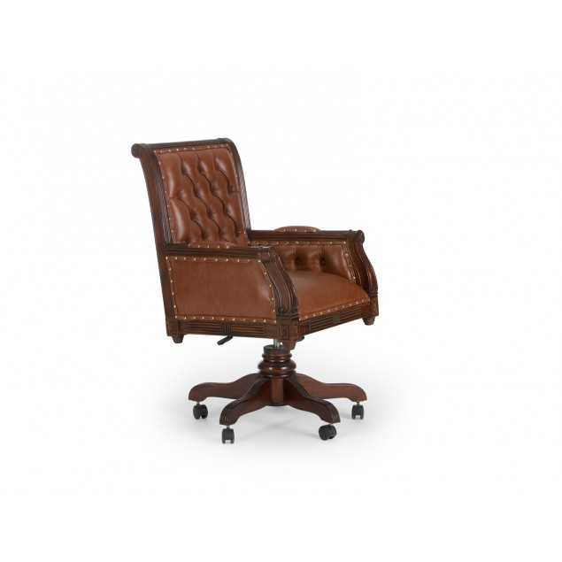 Kancelářská kožená židle Oxford hnědá