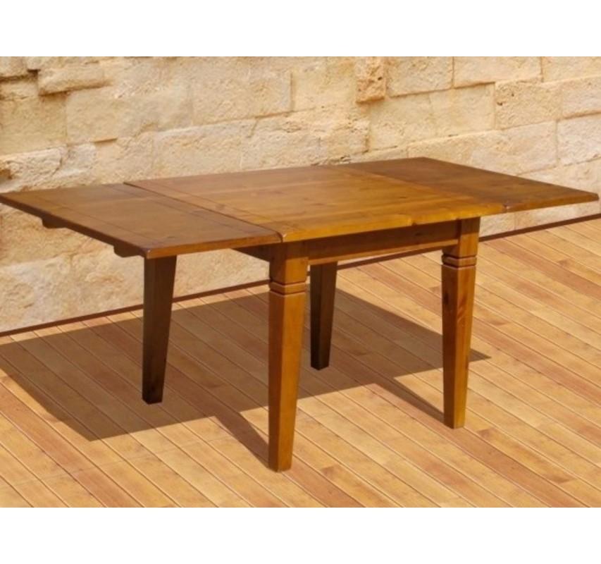 Rozkládací jídelní stůl 90x90 masivní dřevo Glory