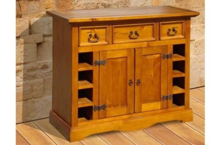Dřevěná barová komoda Glory
