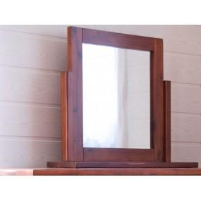 Hnědé zrcadlo masivní rám Siena