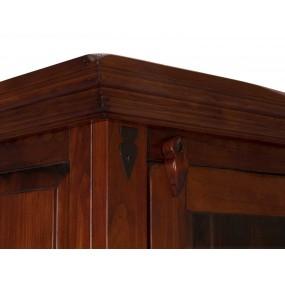 Hnědá vitrína masivní dřevo Jodpur