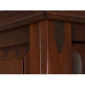 Rustikální vysoká komoda z borovice Jodpur hnědá