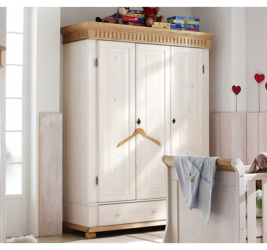 3dveřová skříň Gustav do dětského pokoje