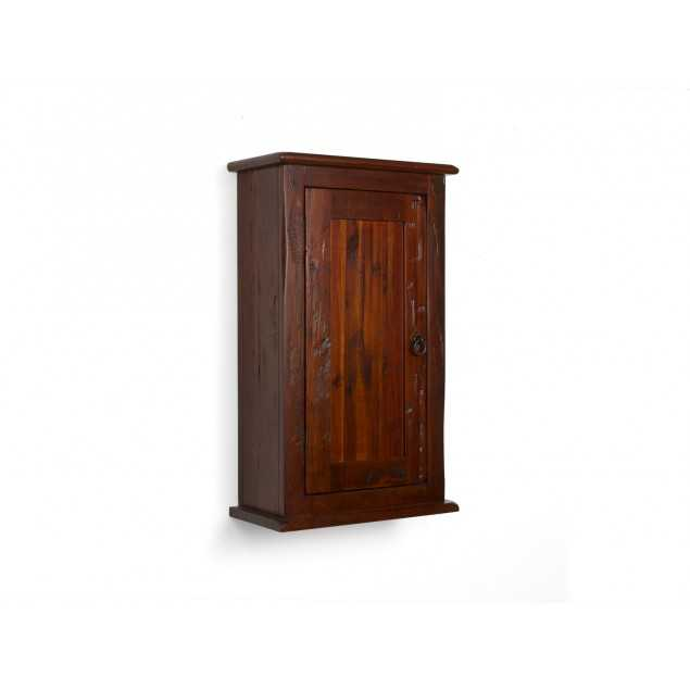 Hnědá koupelnová skříňka na stěnu Jodpur