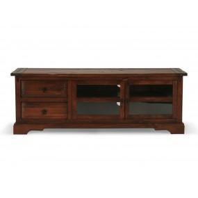 Hnědý TV stolek z masivního dřeva Jodpur