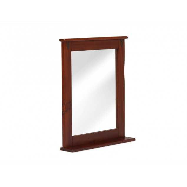 Hnědé koupelnové zrcadlo masivní Jodpur