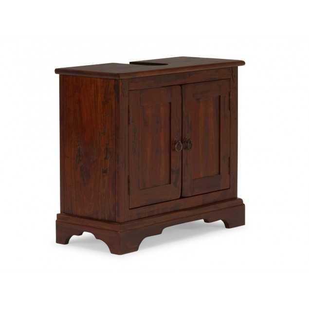 Dřevěná skříňka pod umyvadlo Jodpur hnědá