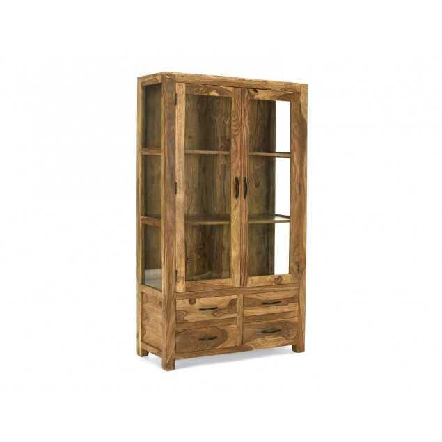 Masivní vitrína se 4 zásuvkami Rosewood