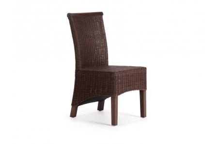 Hnědá ratanová židle Milano