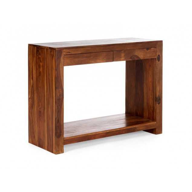 Konzolový stolek se 2 zásuvkami z palisandru Kánpur