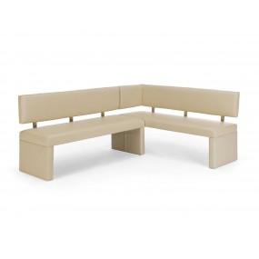 Krémová lavice rohová Mathis
