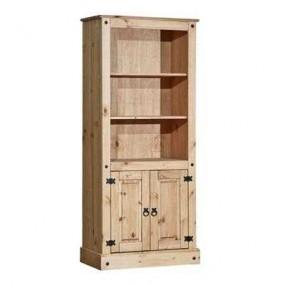Dřevěná knihovna z masivní...