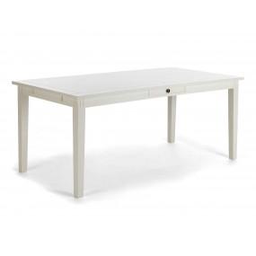 Bílý jídelní stůl se zásuvkou 160x90 Venezia