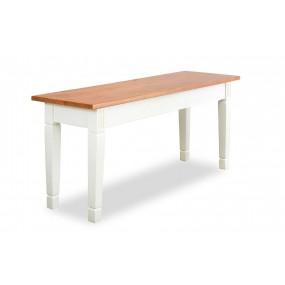 Bílá lavice 110x35 Gotland
