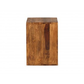 Dřevěný odkládací stolek, kostka, z palisandru Square