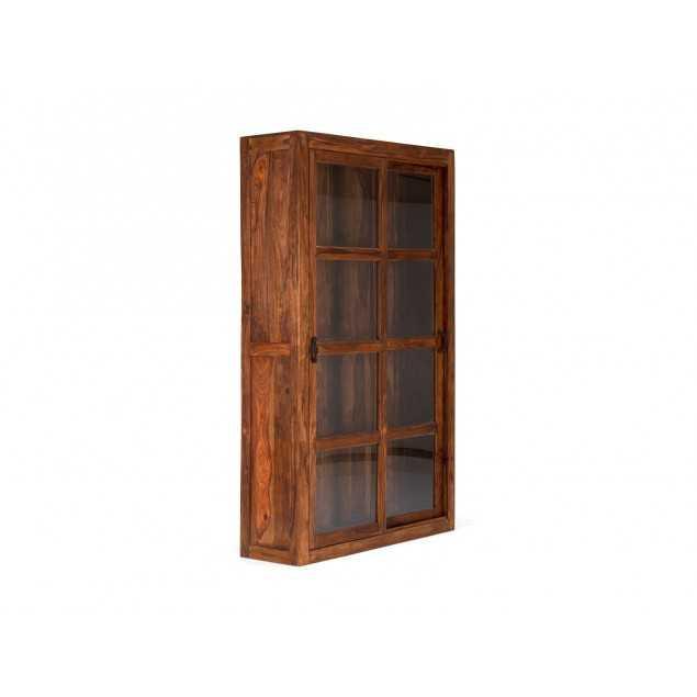 Dřevěná vitrína z palisandru Squarus