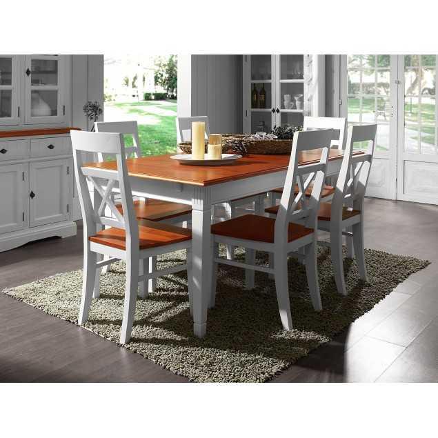 Jídelní set - rozkládací stůl 180/220x90 se 6 židlemi