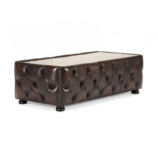 luxusní kožený konferenční stolek
