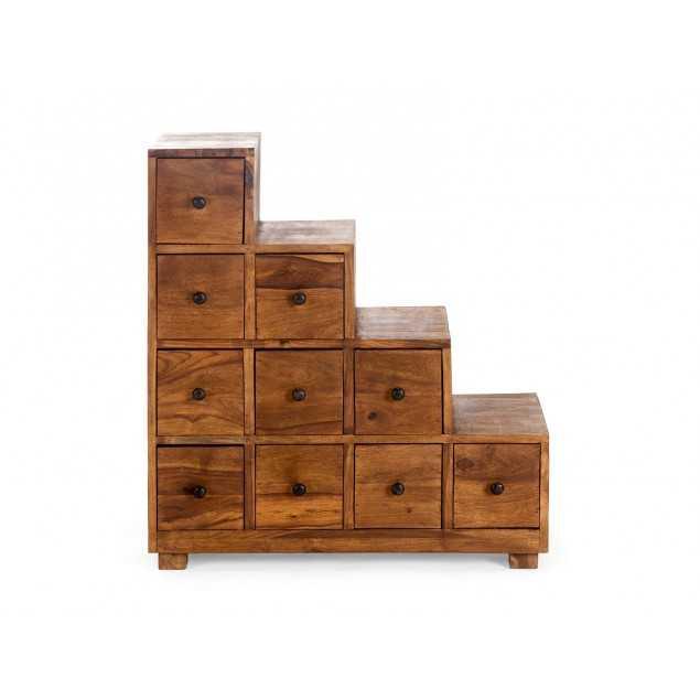 Dřevěná schodová komoda Artus