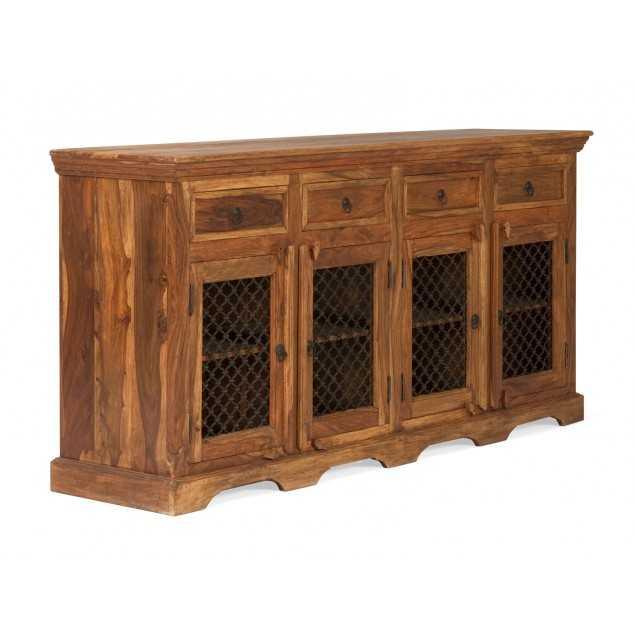 Rustikální dřevěný příborník z palisandru