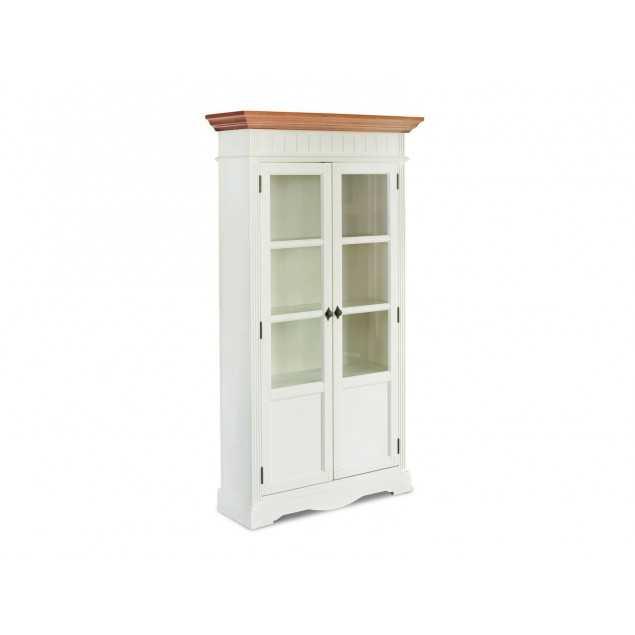 Bílá vitrína 2 dveřová Gotland
