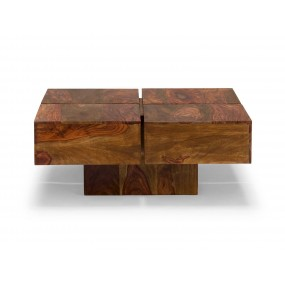 Konferenční stolek 80x80 Square z palisandru