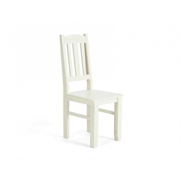 Dřevěná židle bílá Bradford