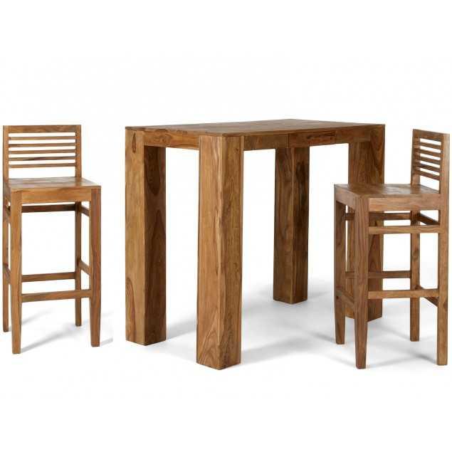 Barový stolek z palisandru se 2 barovými židlemi Kraft