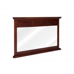 Hnědé zrcadlo dřevěné Bradford