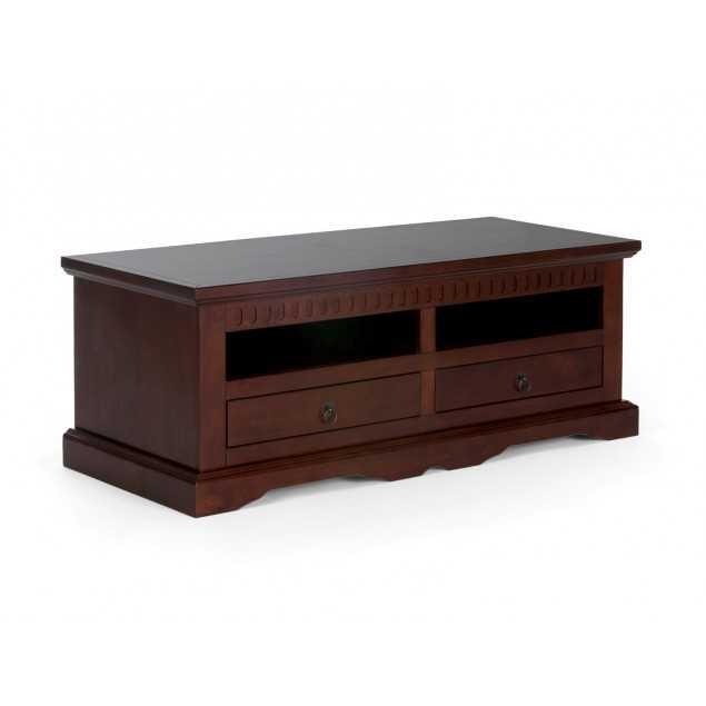 Masivní TV stolek hnědý Bradford