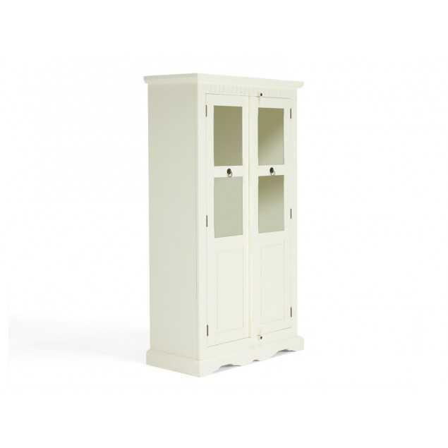 Dřevěná vitrína bílá Bradford